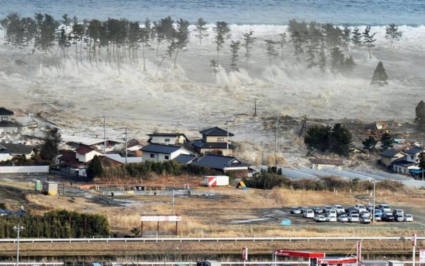 Aεροφωτογραφία δείχνει κατοικημένη περιοχή της Ιαπωνίας που χτυπήθηκε από το τσουνάμι στις 11 Μαρτίου 2011