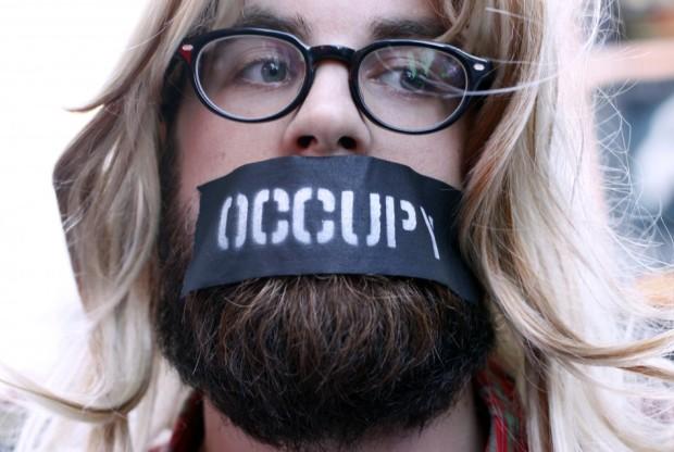 """Διαδηλωτής """"Occupy Wall Street """""""