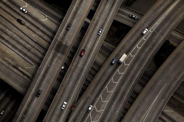 Διασταύρωση αυτοκινητόδρομων στο Λος Άντζελες.