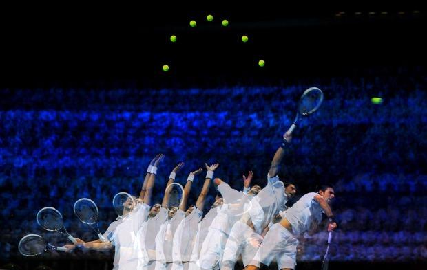 Novak Djokovic. Συρραφή φωτογραφιών