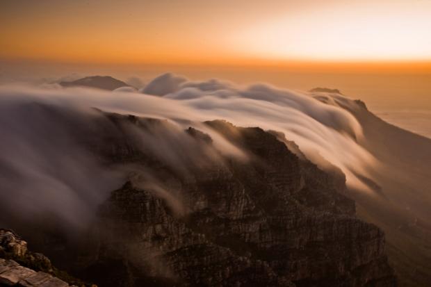 Στην κορυφή ενός βουνού στο Cape Town, Νότια Αφρική.