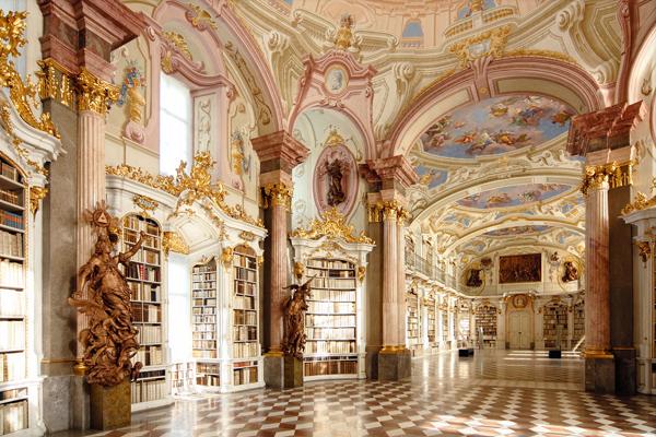 Βιβλιοθήκη στην Μονή Admont , Αυστρία
