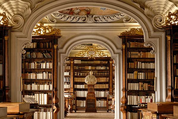Βιβλιοθήκη στην Μονή Kremsmünster, Αυστρία