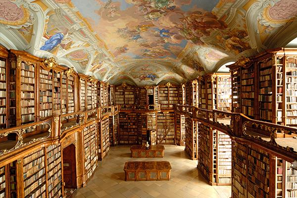 Βιβλιοθήκη στην Μονή Florian, Αυστρία