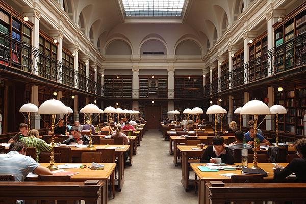 Η Βιβλιοθήκη του πανεπιστημίου του Graz, Αυστρία