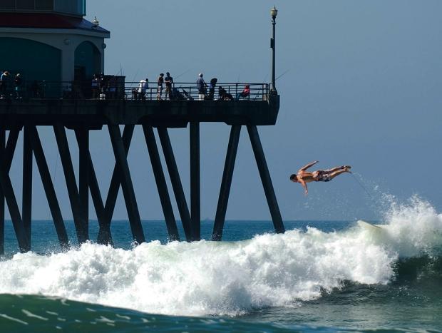 surfer στο Χάντινγκτον Μπιτς, Καλιφόρνια